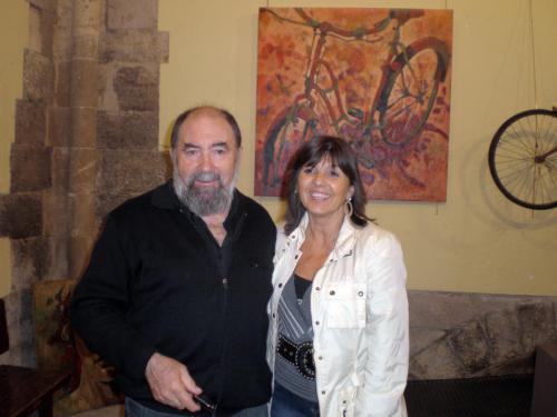 Con el artista Jordi Gispert