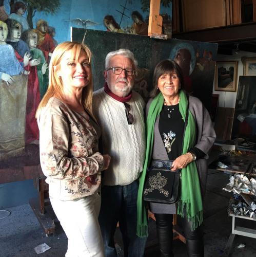 Con Alba Roqueta y Alvar Suñol