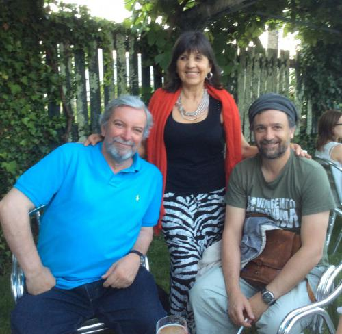 Con Antón Sobral y Jano Muñoz.