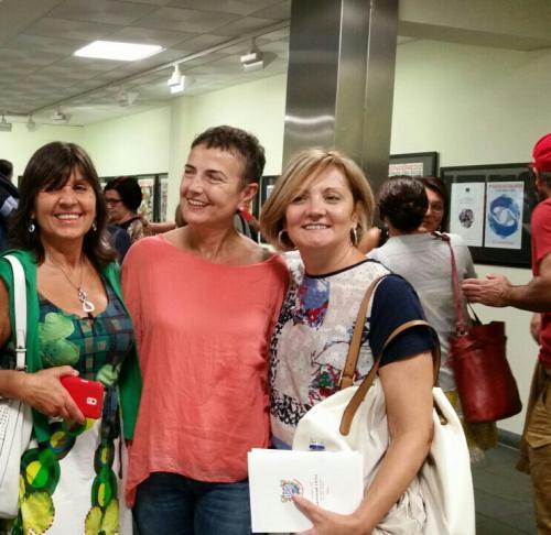 Con Eva Veiga y Mª Xesús Díaz