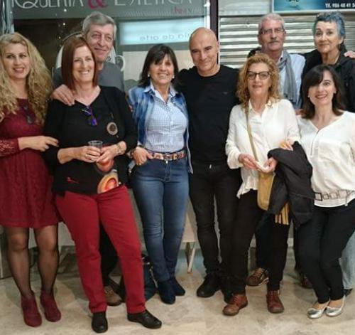 Con Isabel Alonso, Canicoba, Ramón Conde, Sara Pérez Vello y Puri del Palacio