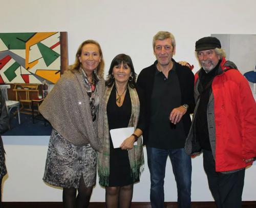 Con Teresa Vazquez,Tino Canicoba y Antón Sobral