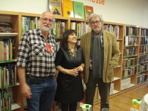 Con Xavier Raventós y Josep Cruañas