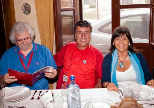Con Xosé Vazquez Castro y Carles Bross